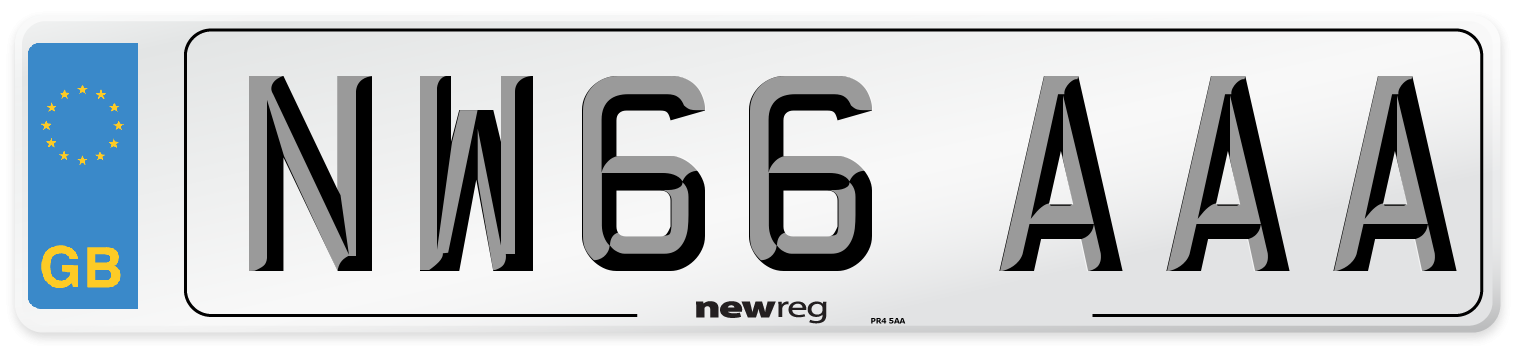 NW66 AAA Number Plate from New Reg
